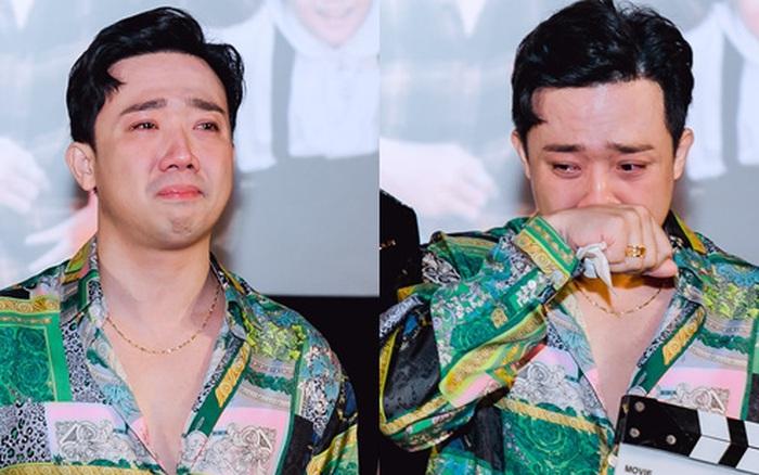 Trấn Thành bất ngờ rơi nước mắt ở họp báo phim nhưng lần này lý do của