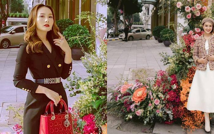 Đứng bên cột đèn nở hoa, Bảo Thanh - Hồng Diễm trông thật giả trân!