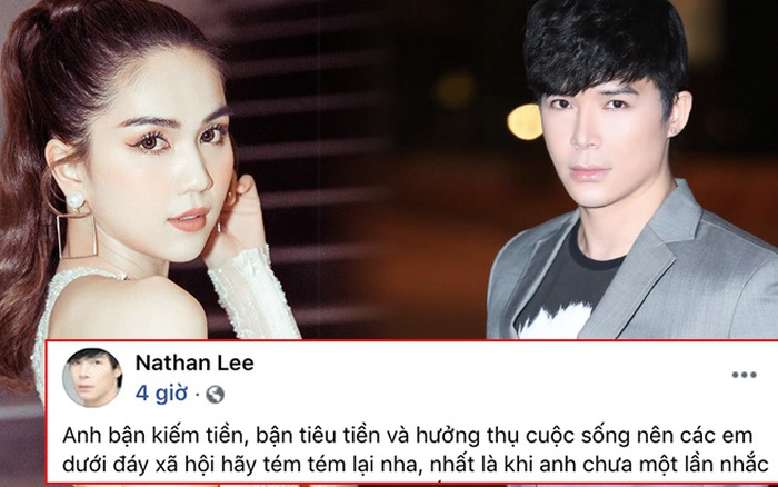 Chưa hết drama: Ngọc Trinh vừa mỉa mai đáp trả, Nathan Lee lại đăng status nhắc khéo ai đó