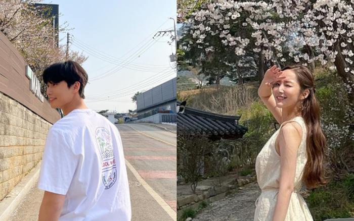 Park Min Young - Park Seo Joon lộ bằng chứng hẹn hò ngắm hoa anh đào, còn dùng