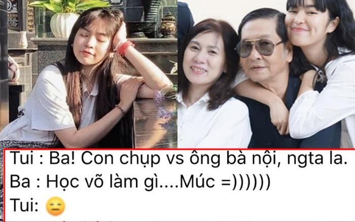 Đây là phản ứng của bố ruột Khánh Vân sau khi biết con gái bị chỉ trích vì đăng ảnh ngồi lên bia mộ