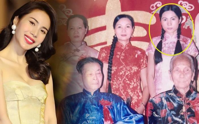 Mẹ ruột Thuỷ Tiên khui lại ảnh gia đình năm xưa, nhan sắc nữ ca sĩ khác