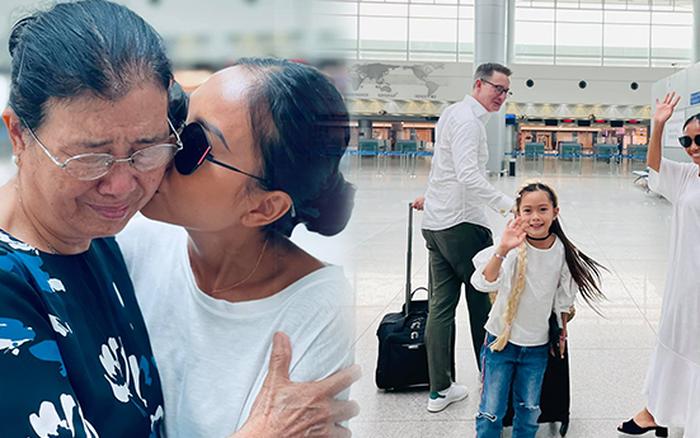 Đoan Trang rời showbiz Việt sang nước ngoài sinh sống, khoảnh khắc mẹ ruột bật khóc nức nở ở sân bay gây xúc động
