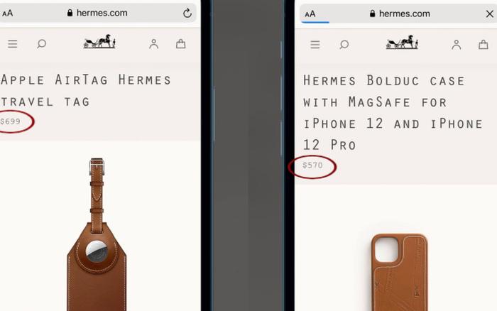 Hermès vừa giới thiệu thêm 2 phụ kiện xa xỉ cho iPhone 12 và AirTag của Apple, giá cao đến giật mình!