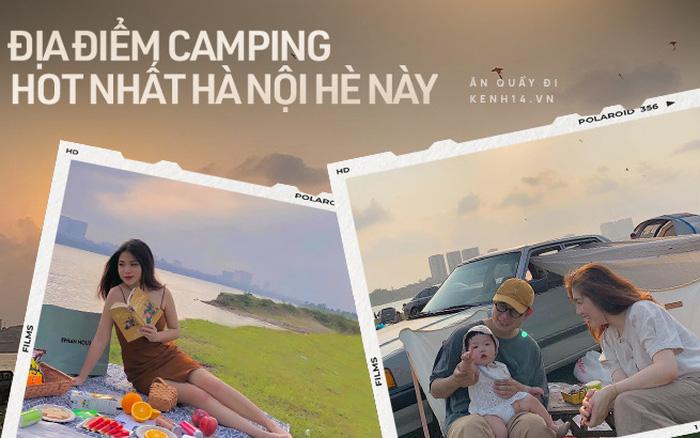Ngay trong Hà Nội có địa điểm camping xuất sắc thế này: Rộng rãi không sợ thiếu chỗ, ngắm hoàng hôn đỉnh khỏi bàn