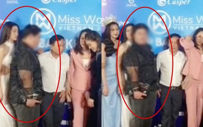 Lộ clip nghi vấn Đỗ Mỹ Linh bị chèn hàng thấy thương trên thảm đỏ Miss World Việt Nam, netizen bức xúc hàng loạt