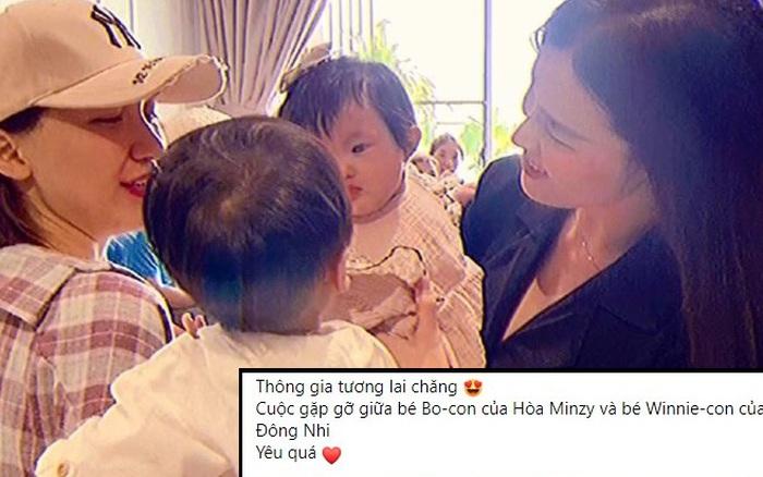 """Nhân cuộc gặp mặt giữa ái nữ nhà Đông Nhi và quý tử nhà Hòa Minzy, dân tình """"đặt kèo"""" thông gia cho hai nhóc tỳ hot nhất Vbiz luôn!"""