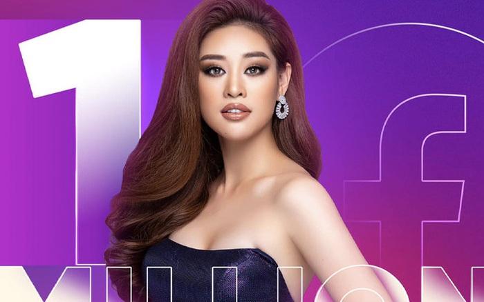 Khánh Vân chính thức cán mốc 1 triệu follower Facebook, tăng vọt 255 nghìn lượt chỉ sau 4 ngày chinh chiến tại Miss Universe