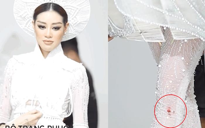 Khánh Vân đau đớn vì bị thương đến mức chảy cả máu khi thử quốc phục 30 kg, dân tình đồng loạt lo lắng 1 điều?