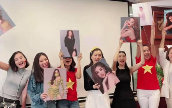 """Khánh Vân trên đất Mỹ có biết: """"Hội chị em Hoa hậu"""" quy tụ từ 6h sáng để cổ vũ, không khí náo nhiệt như đang ở tại sân khấu"""