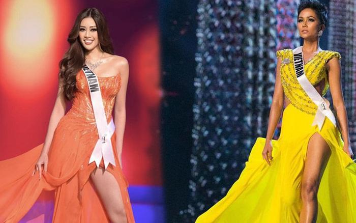 Khánh Vân bỗng bị tố copy màn thi dạ hội của H'Hen Niê năm nào ở Miss Universe từ dáng xoay đến trang phục?