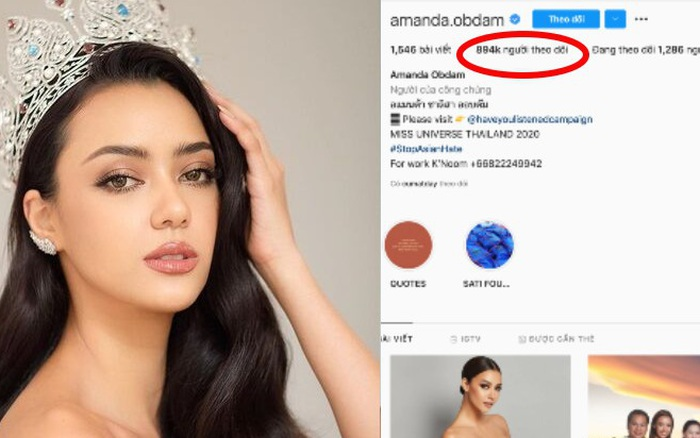 Không vào nổi top 5 Miss Universe, Hoa hậu Thái Lan vẫn cực hot trên Instagram, thậm chí còn