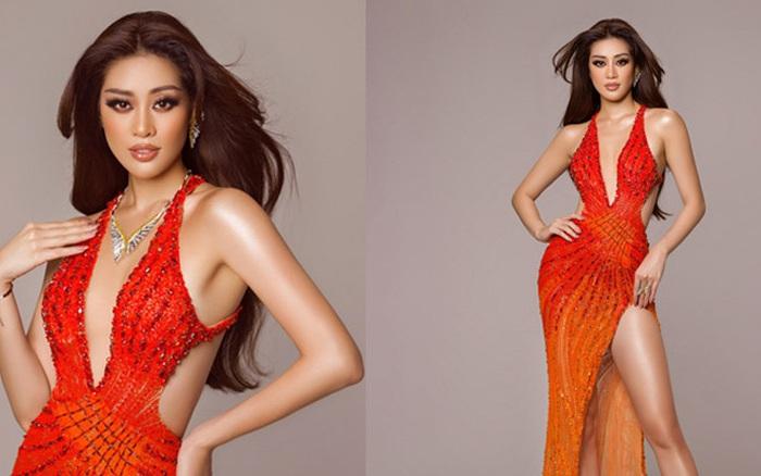 Cận cảnh trang phục dạ hội Khánh Vân chuẩn bị nhưng không được diện lên sân khấu Chung kết Miss Universe 2020