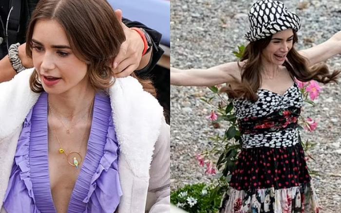 Ảnh hậu trường mới gây sốc của Lily Collins (Emily in Paris): Gầy đáng báo động, nhìn đến xương ngực mà hoảng hốt