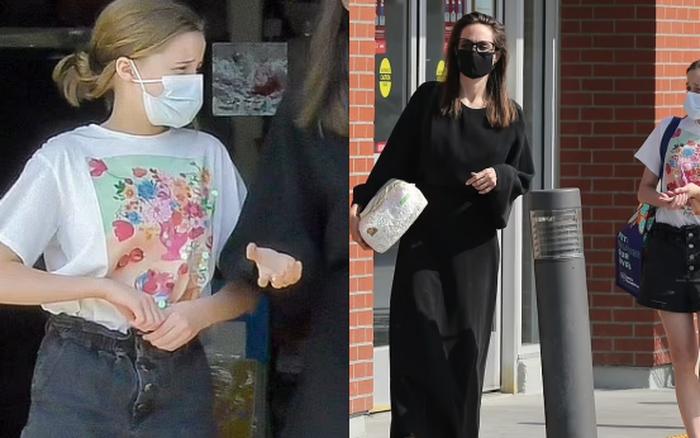 Mẹ con Angelina Jolie đi dạo phố thôi mà gây tranh cãi: Bé út nổi như cồn vì chân dài,