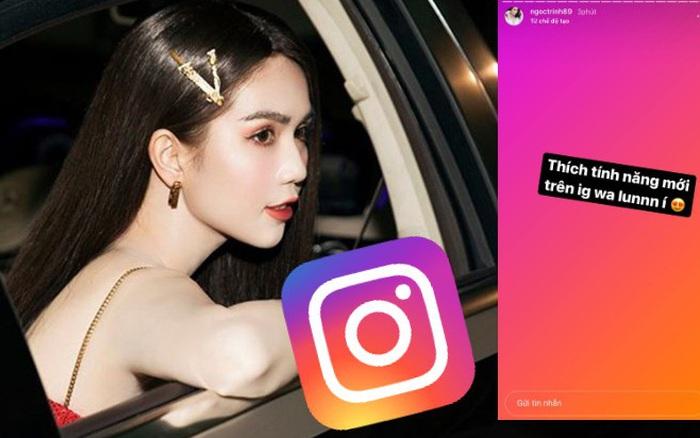 Ngọc Trinh tiết lộ thích mê tính năng mới trên Instagram, đó là gì?