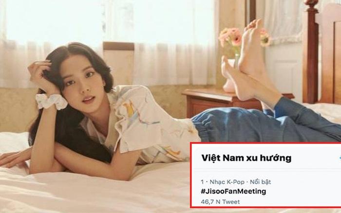 Jisoo (BLACKPINK) đang gây náo loạn Twitter, buổi fan meeting online leo lên top 1 thịnh hành tại Việt Nam