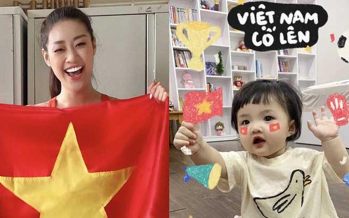 Tiểu Vy, Khánh Vân và dàn sao hừng hực khí thế cổ vũ tuyển Việt Nam: Tất cả đu trend đoán tỉ số, con gái Đông Nhi gây sốt