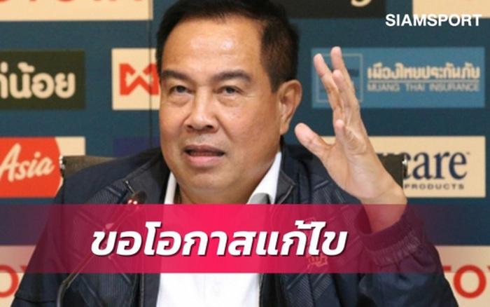 Chủ tịch LĐBĐ Thái Lan xin lỗi người hâm mộ, quyết không từ chức sau thảm bại của đội nhà