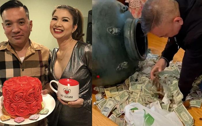 """Phạm Thanh Thảo và chồng đại gia khui lu tiền USD khủng, toàn đồng lẻ mà cả đống thế này cũng """"hoa mắt chóng mặt"""""""