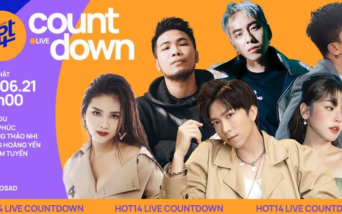 HOT14 Live COUNTDOWN công bố dàn line-up