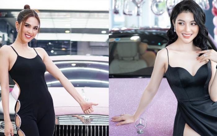Có 2 mỹ nhân Vbiz tậu xế hộp hồng tiền tỷ na ná siêu xịn: Ngọc Trinh sống ảo 7749 bộ ảnh, Lily Chen cũng