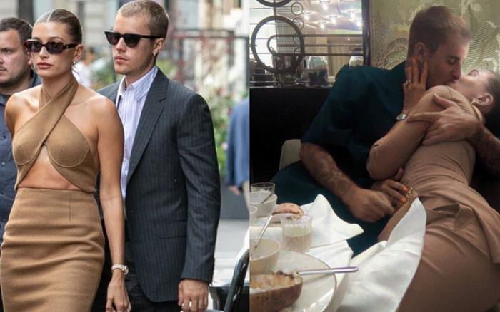 Đi gặp mặt Tổng thống Pháp về, vợ chồng Justin Bieber thay đồ hẹn hò và lộ luôn khung cảnh