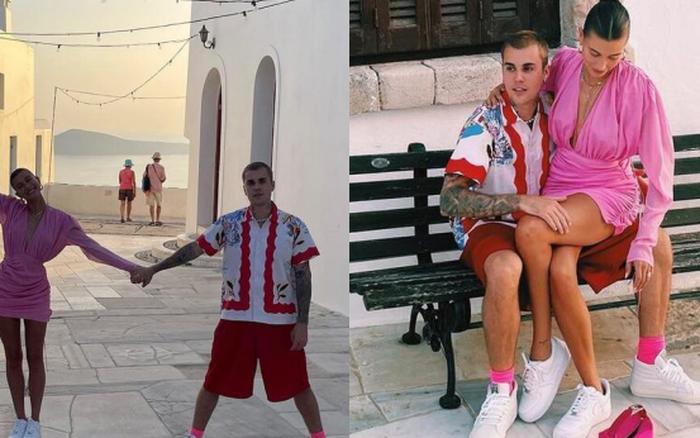 Rời Pháp, vợ chồng Justin Bieber lại vi vu Hy Lạp: Khoe ảnh mùi mẫn mà