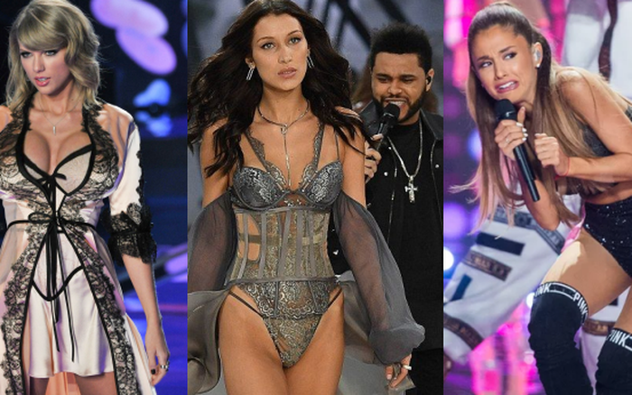 Tranh cãi sao Hollywood lên sân khấu Victoria's Secret: Bella Hadid gặp tình cũ, Ariana méo mặt vì thiên thần, Taylor trả đũa nàng mẫu vì bị chê
