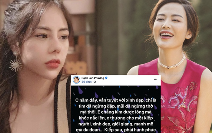 Bạch Lan Phương xót xa sau tang lễ của Hoa hậu Thu Thuỷ:
