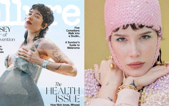 Choáng váng ảnh tạp chí khoe bụng bầu của Halsey: Hết nude 100% đến lên đồ độc lạ, lộ cả lông vùng cánh nhưng mãn nhãn quá đi