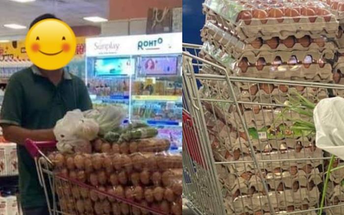 Xôn xao bức ảnh người đàn ông thu gom hàng chục vỉ trứng ở siêu thị, netizen chưa gì đã