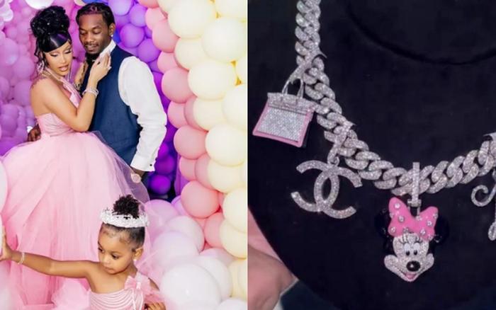 Ồn ào rich kid Hollywood: Cardi B tặng sinh nhật con gái vòng 3,4 tỷ, đồng hồ 5,7 tỷ và cú