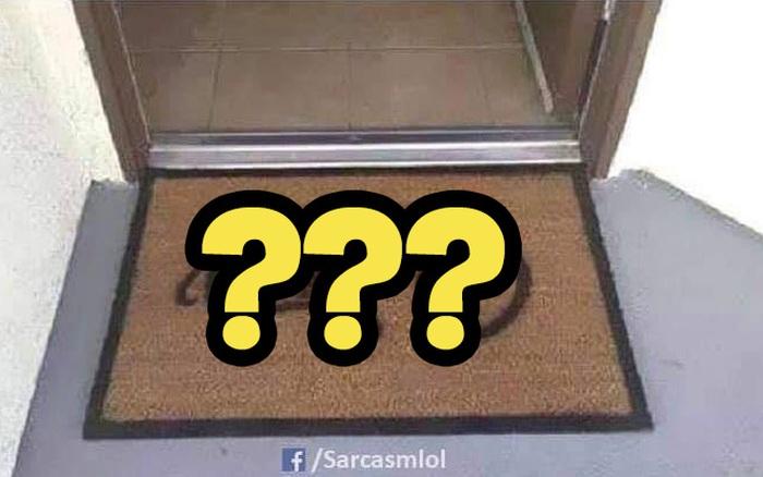 Đặt tấm thảm in một dòng chữ ngay trước cửa ra vào, cửa hàng gây bão toàn thế giới vì màn cà khịa khách cực