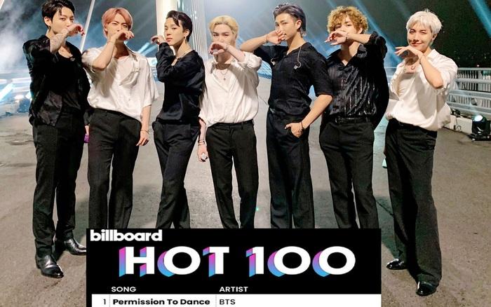BTS đạt No.1 Billboard Hot 100 san bằng thành tích Justin Bieber với Permission To Dance, Butter tụt hạng bất ngờ
