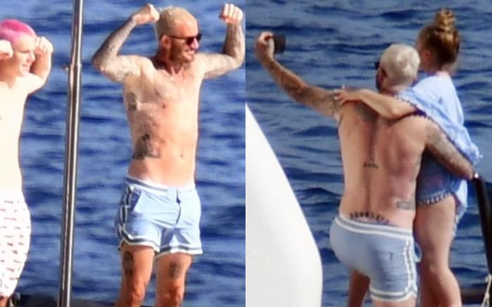 Bố con Beckham đi du thuyền vi vu nước Ý: Harper phổng phao, Cruz tóc hồng chói nhưng vẫn chịu thua ông bố David