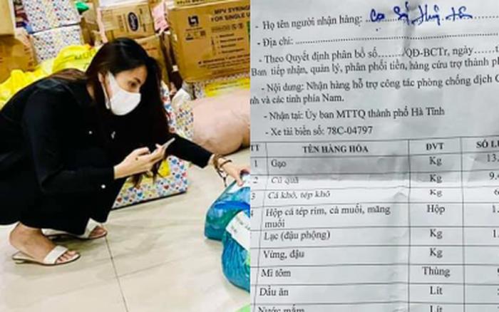 """Thuỷ Tiên bị tố """"nhận vơ"""" cả trăm tấn lương thực người dân Hà Tĩnh tiếp tế cho Sài Gòn, Công Vinh bức xúc lên tiếng phân trần"""