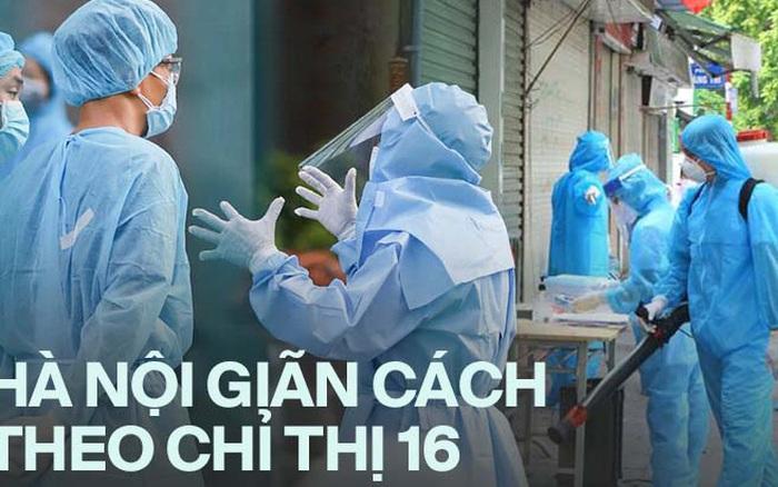 INFOGRAPHIC: Hà Nội thực hiện giãn cách xã hội theo Chỉ thị 16 như thế nào?