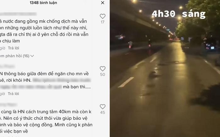 """Khoe """"chiến công"""" dậy từ 4h30 sáng để """"phượt"""" về quê ngay trước giờ Hà Nội giãn cách, cô gái bị dân mạng lên án gay gắt"""