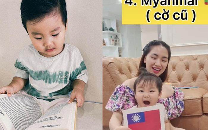 Clip 2 triệu view đang hot: Quý tử nhà Hoà Minzy chưa đầy 2 tuổi đã thuộc làu 19 quốc kỳ, netizen cũng