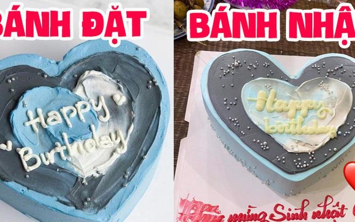 """Đặt bánh sinh nhật chính là """"trò may rủi"""" nhất MXH: Hình minh hoạ một đằng nhưng lúc nào nhận hàng cũng một nẻo?!"""