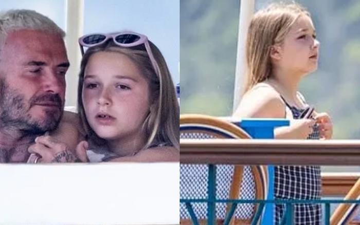 """Bổ mắt trước cảnh bố con Beckham khoe visual cực phẩm: Bố David U50 mà quá """"mlem"""", ai dè bị Harper xinh xỉu lấn át"""