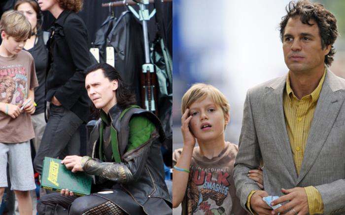 """""""Loki"""" luôn đối xử đặc biệt với 1 fan nhí, ai ngờ cậu bé là con ruột của """"Hulk"""": Vừa bị bố bé đánh tơi bời, sao dám không ưu ái?"""