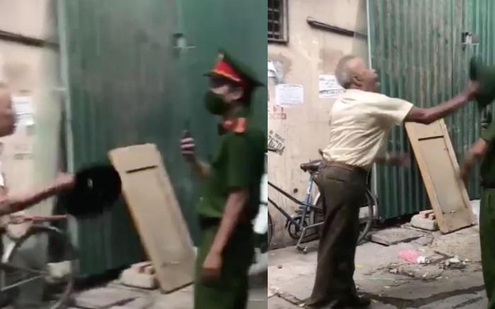 Clip: Người đàn ông lớn tuổi vác mũ cối đánh cán bộ công an chảy máu khi bị nhắc nhở đeo khẩu trang
