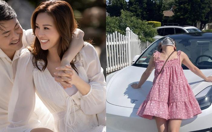 Ông xã doanh nhân kém 10 tuổi tặng hẳn xế hộp sang xịn cho con gái Hoa hậu Thu Hoài, hé lộ cả cách xưng hô đặc biệt