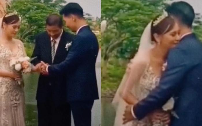 Khoảnh khắc gây xúc động: Nam được bố Sinh dắt lên lễ đường, chính thức kết hôn với