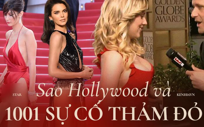 """101 sự cố """"í ẹ"""" nhất thảm đỏ: """"Góa phụ đen"""" bị MC sờ ngực, Kendall - Emma Watson lộ chỗ nhạy cảm chưa bằng tài tử rơi bao cao su"""