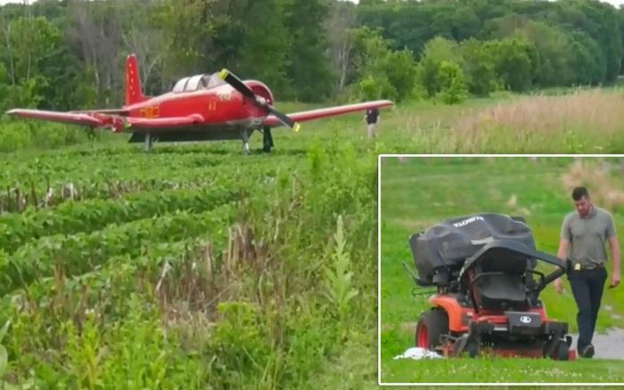 Người phụ nữ đang cắt cỏ thì bị máy bay đâm chết