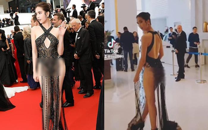 """Vũ Khắc Tiệp tung clip hậu trường Ngọc Trinh hở hết da thịt trên thảm đỏ Cannes, đã 2 năm rồi mà nhìn vẫn """"đỏ cả mặt"""""""