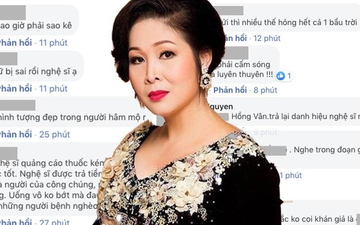 NS Hồng Vân bị netizen